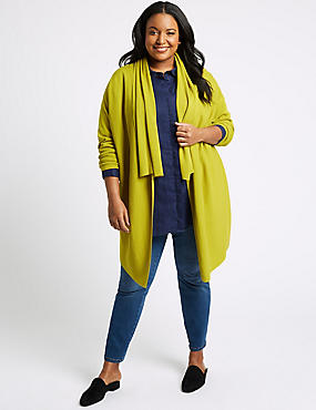 CURVE Long Sleeve Cardigan, LIME, catlanding