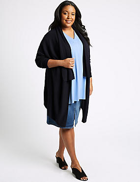 CURVE Long Sleeve Cardigan, NAVY, catlanding