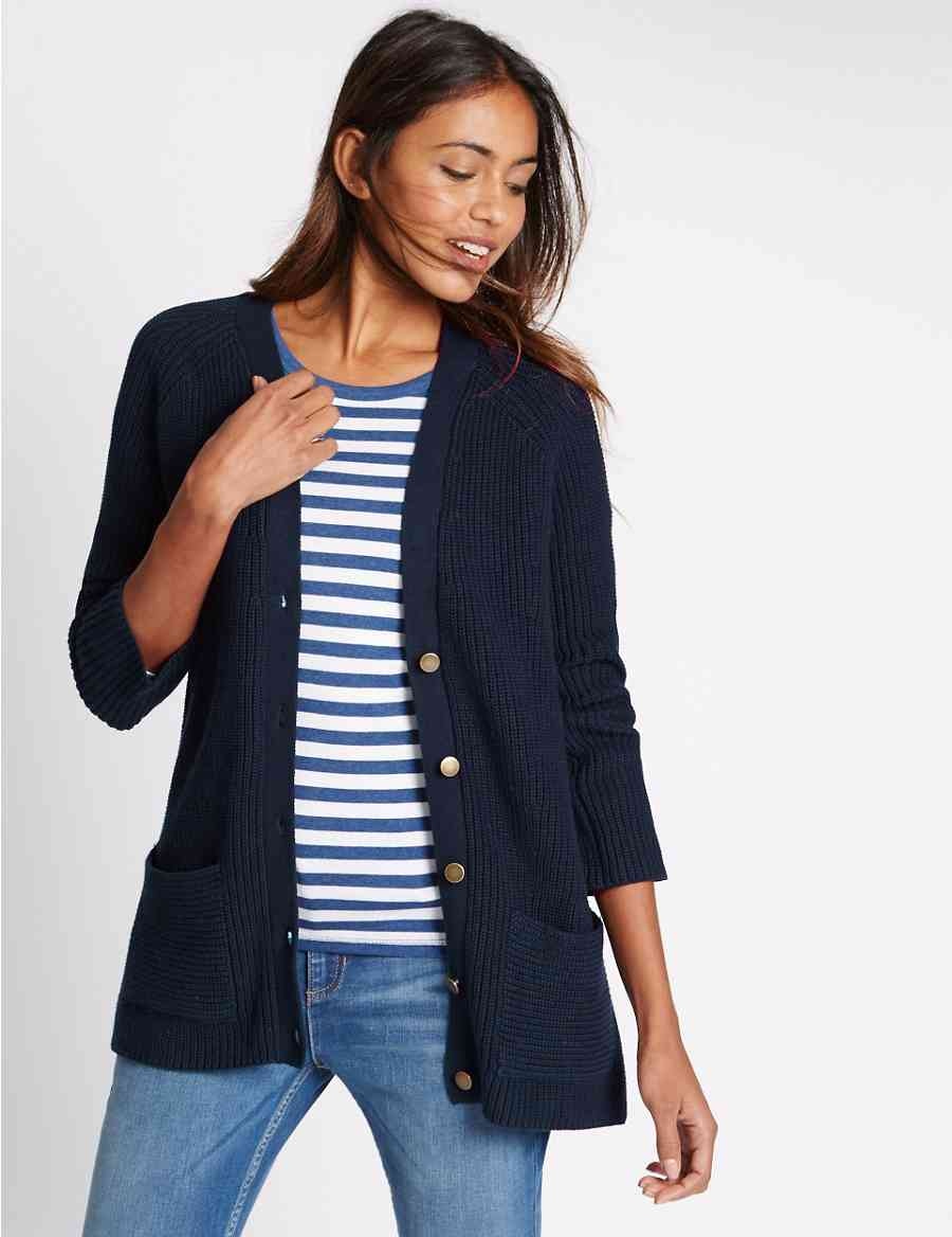 374400f869 Pure Cotton Boyfriend Cardigan