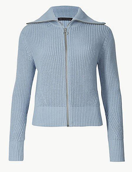 Pure Cotton Textured Cardigan