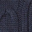 Cotton Blend Cable Knit Button Sleeve Jumper, NAVY, swatch