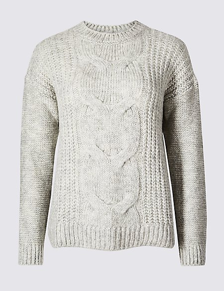 Cable Round Neck Jumper