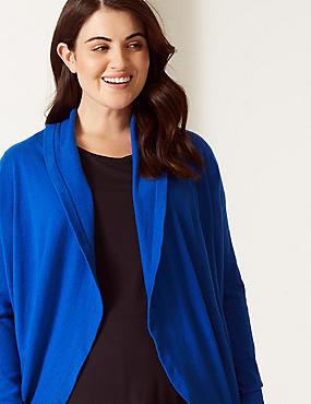 CURVE 3/4 Sleeve Cardigan , RICH BLUE, catlanding