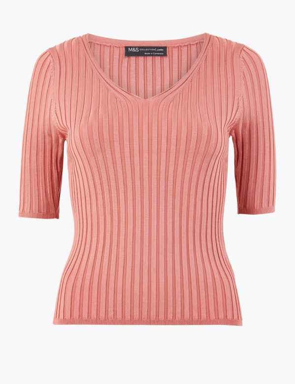 1251ec85bf24 Womens Orange Tops & T-shirts | M&S
