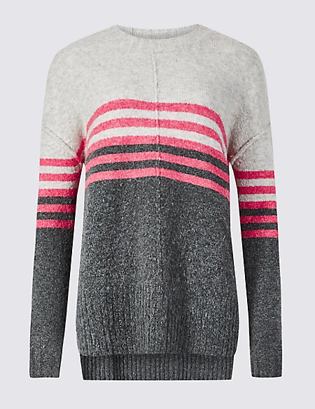 Striped Relaxed Round Neck Jumper