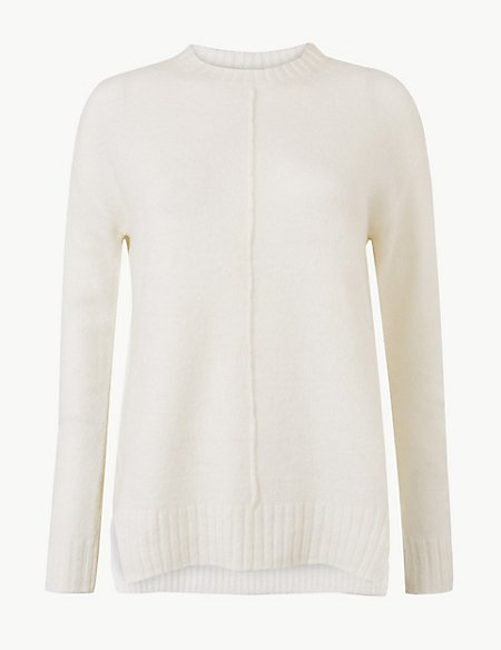 Relaxed Supersoft Round Neck Jumper'