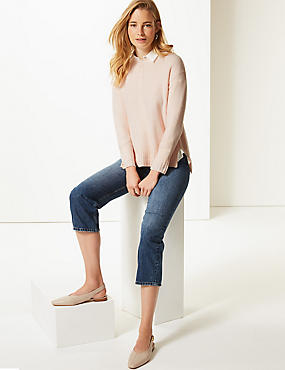 Relaxed Supersoft Round Neck Jumper , LIGHT PINK, catlanding