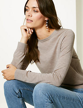 Pure Merino Wool Round Neck Jumper