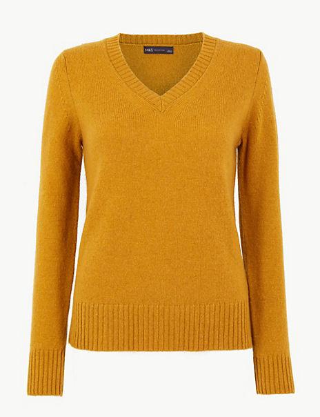 Wool Rich V-Neck Jumper
