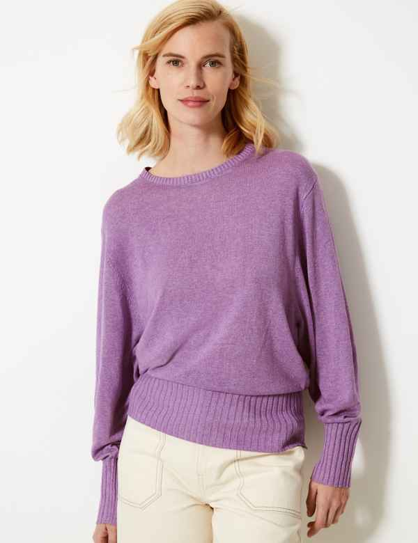 Textured Round Neck Jumper 6eddec813