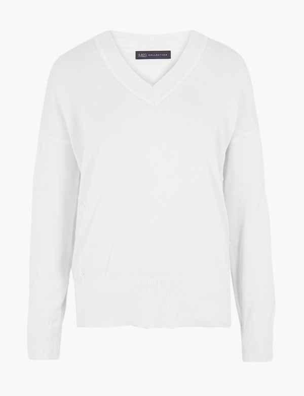 bdb6c95acd8 Womens V Neck Knitwear | M&S