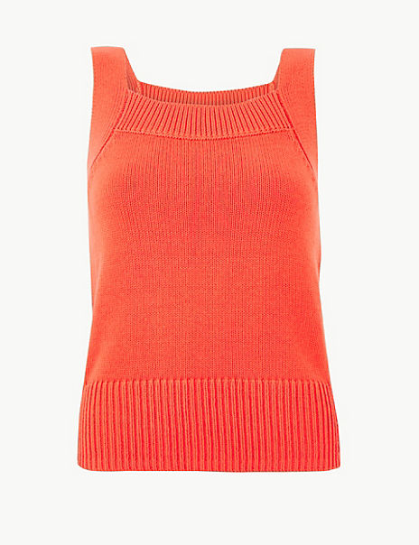 PETITE Pure Cotton Textured Knitted Top