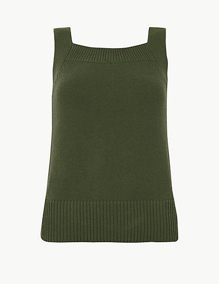 Pure Cotton Square Neck Vest