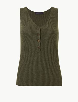 eee0a23741ef4 Linen Blend Textured V-Neck Knitted Tops £19.50