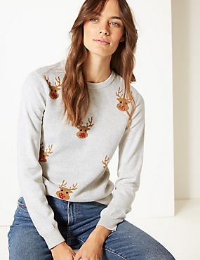 m and s ladies christmas jumpers