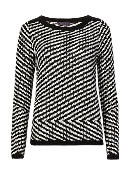 Zig Zag Jumper with Mohair