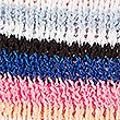 Striped Round Neck Recycled Yarn Jumper , MULTI, swatch