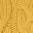 Cable Knit Funnel Neck Jumper  , OCHRE, swatch