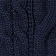 Hooded Cable Knit Jumper, NAVY, swatch