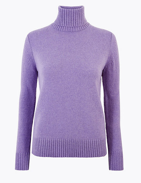 Wool Rich Roll Neck Jumper