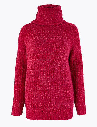 Textured Cowl Neck Jumper by 35 Days To Return