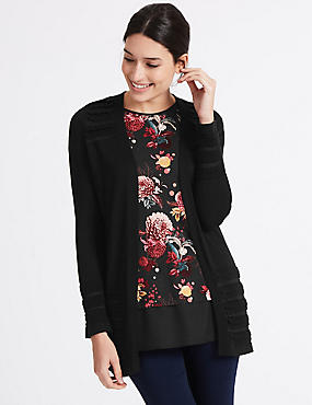 Open Front Scallop Cardigan