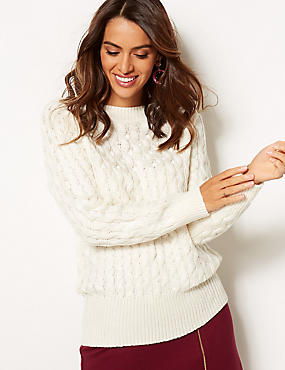 Embellished Slash Neck Jumper