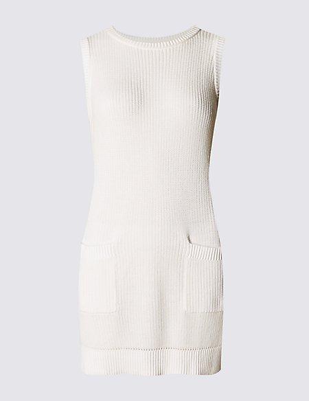 Pure Cotton Sleeveless Tunic Jumper