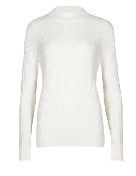 Turtle Neck Cable Knit Jumper