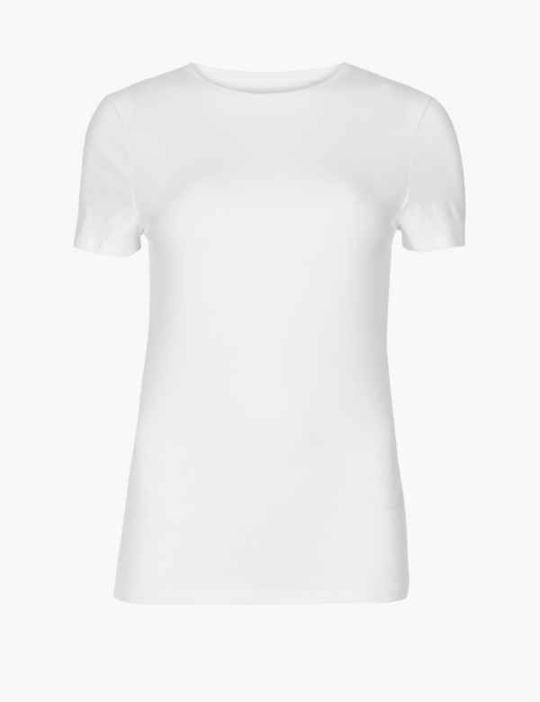 d53400519b7 Cotton Rich Round Neck Fitted T-Shirt. 3 For 2