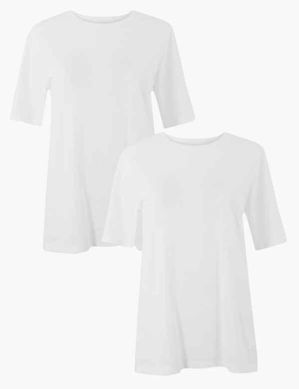 2 Pack Pure Cotton Short Sleeve T-Shirt 387730b139