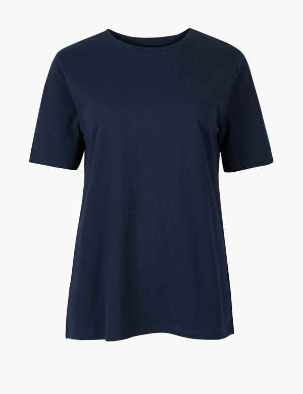 87b938a4ad1f09 Pure Cotton Straight Fit T-Shirt. New to Sale