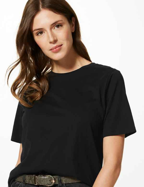 21f22b074a1b7d Womens Black Tops & T-shirts | M&S