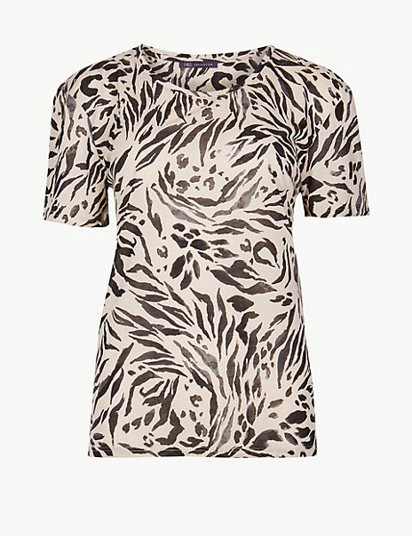 Animal Print Relaxed Fit T-Shirt