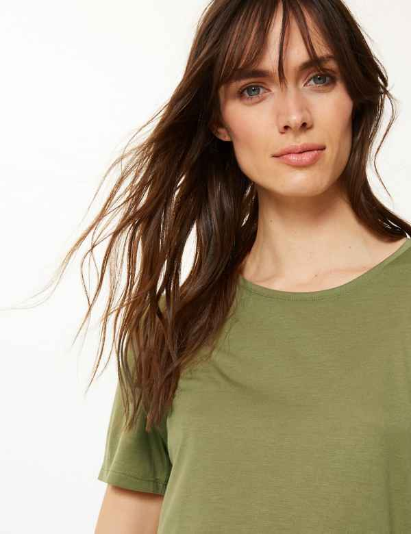 6a29c5c8 Womens Green Tops & T-shirts | M&S