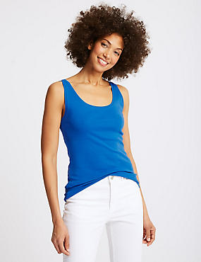 Pure Cotton Round Neck Vest Top
