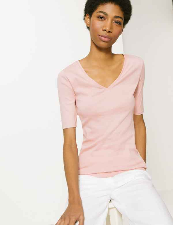 92a5513ff15b01 Pure Cotton Regular Fit T-Shirt. Online Only. M&S Collection