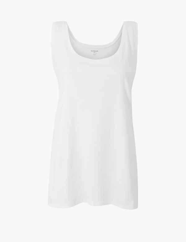 4066f75e344 CURVE Pure Cotton Vest Top. New. M S Collection