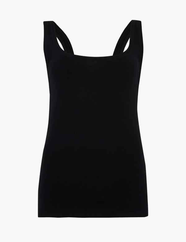 aab012cc45a671 Pure Cotton Scoop Neck Regular Fit Vest Top. 3 For 2. M&S Collection