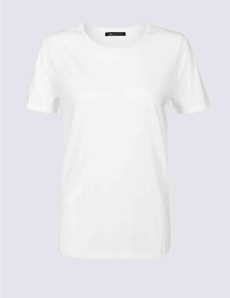 fad8bb45d7f Pure Cotton Round Neck T-Shirt