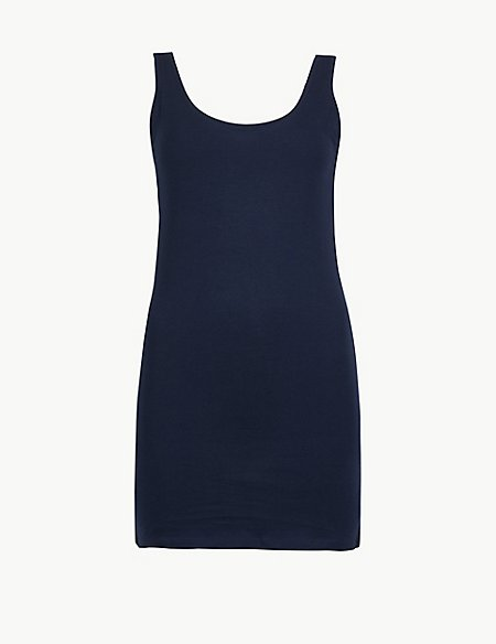 Cotton Rich Longline Fitted Vest Top
