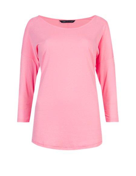 Pure Cotton 3/4 Sleeve T-Shirt
