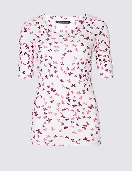Pure Cotton Printed Short Sleeve T-Shirt