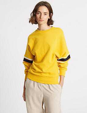 Pure Cotton Long Sleeve Sweatshirt