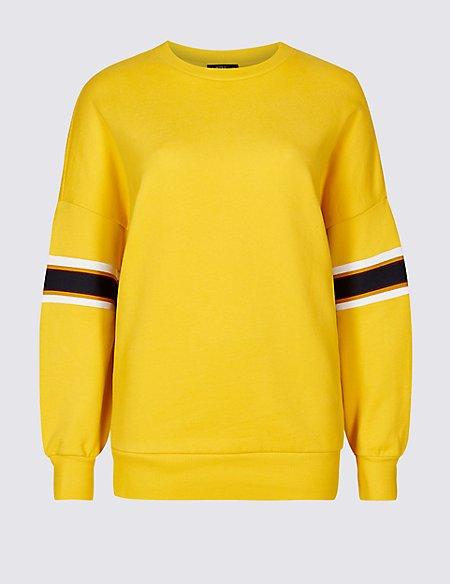 Pure Cotton Long Sleeve Sweatshirt