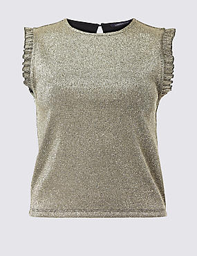 Sparkly Round Neck T-Shirt