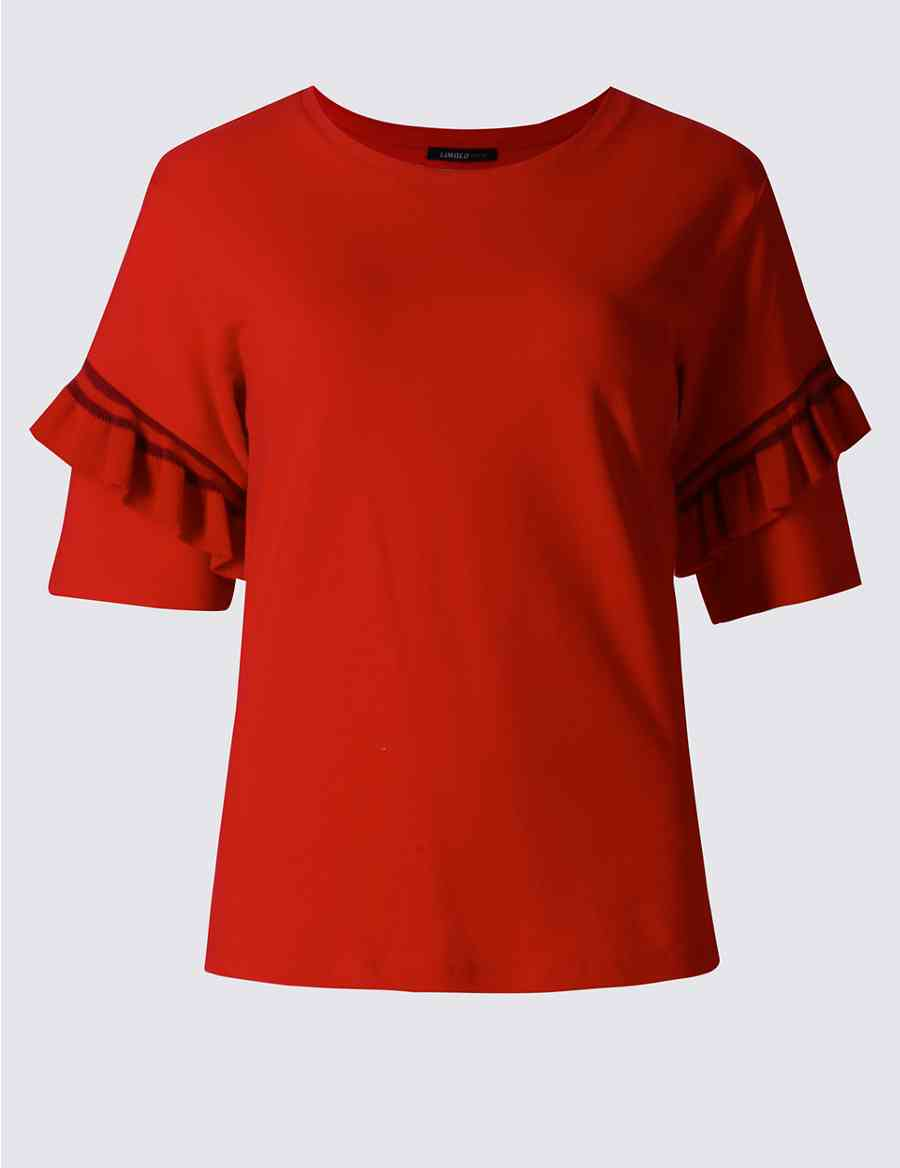 7a02a709 Round Neck Short Sleeve T-Shirt | Limited Edition | M&S