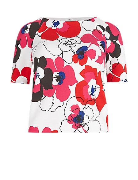Floral Scuba Top
