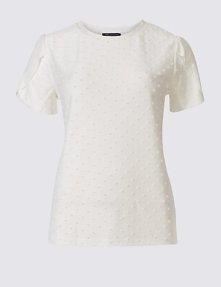 Textured Spot Short Sleeve T-Shirt