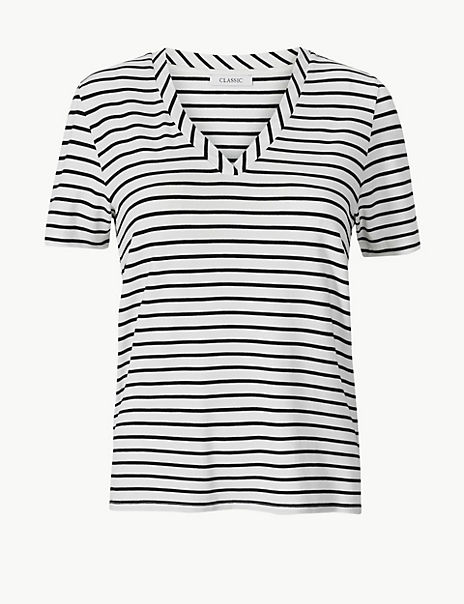 Striped Straight Fit T-Shirt